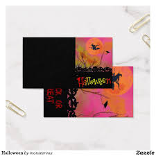 Halloween Business Cards Halloween Business Card Zazzle Com My Zazzle Products At