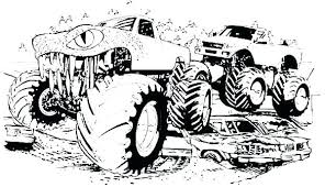 Digger Coloring Pages Grave Digger Monster Truck Coloring Pages