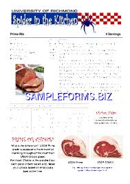 Prime Rib Cooking Chart Pdf Free 1 Pages