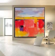 hand painted palette knife painting on canvas large canvas art square contemporary art from