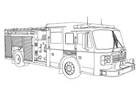 Fire Truck Coloring Page Free Coloring