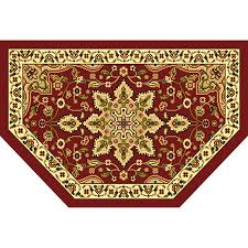 home dynamix grand royalty semicircular indoor woven throw rug common 2 x 3