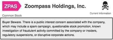 Zoompass Holdings Buyer Beware Zoompass Holdings Inc