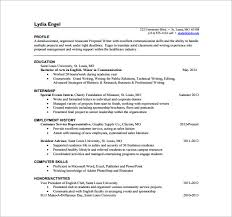 general resume profile statement examples proposal writer free template  high format section