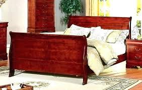 queen size sleigh bed frame cherry wood sleigh bed cherry wood sleigh bed king size com