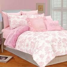 thro thro toile micro plush comforter set in pink white