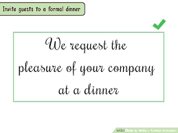 Formal Dinner Invitation – E-Invite