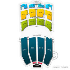 Embassy Theatre 2019 Seating Chart