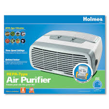 holmes desktop air purifier with hepa type filter optional ionizer