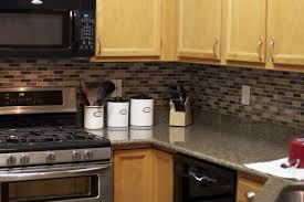 Granite Kitchen Set Simple Kitchen Ideas With Brown Black Gray Subway Glass Tile