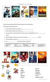 types of movies types of movies worksheet free esl printable worksheets made by