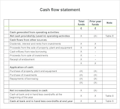 Basic Cash Flow Statement Template