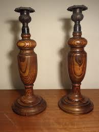 wooden candlesticks antique wooden candlesticks