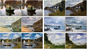 an unpaired image to image translation technique that can do something really interesting it can turn a painting by monet into a photograph also