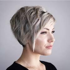 Frauen Kurzhaarschnitt F R Dickes Haar Kurzhaarfrisur Trends