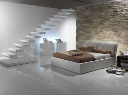 brick bedroom furniture. Cute Italian Bedroom Furniture Design : White Floating Stairs Rustic Brick Wall