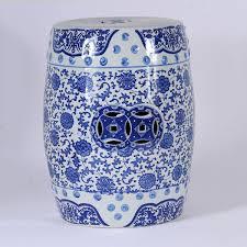 blue garden stool. Este Classic White And Blue Garden Stool 45 X 33cm I