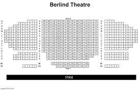 Snapple Theater Center Seating Chart Berlind Seating Chart Mccarter Theatre Center