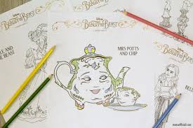 Small Picture Elegant Beauty and the Beast Coloring Pages to Print