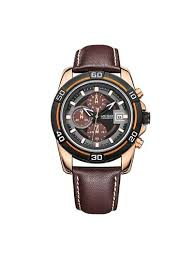 men s accessories discounts megir men s quartz watch fashion design pin buckle functional watch outlet