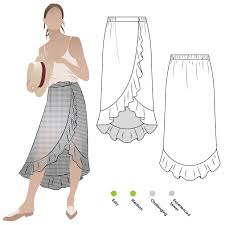 Wrap Skirt Pattern Stunning Ariel Wrap Skirt The Fold Line