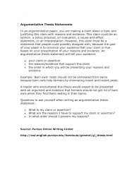 general statement essay example cover letter thesis statement  cover letter examples of thesis statements for an argumentative essay examples example a good statement essays