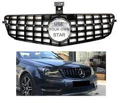 Find great deals on ebay for mercedes grill emblem. C Class All Black Gt Grille 08 14 W204 C300 C350 C250 Will Not Fit On C63 Sedan Mercedes Benz Accessories C Class