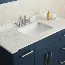 Quartz Bathroom Countertop Ariel By Seacliff Radcliff 48 Midnight Blue Single Sink Bathroom