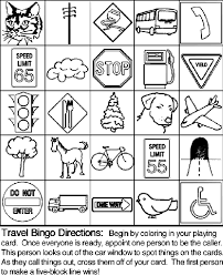 Small Picture Travel Bingo Board 1 Coloring Page crayolacom