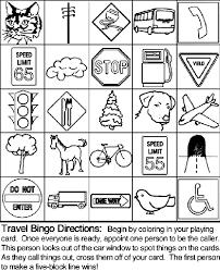 Small Picture Travel Bingo Board 1 Coloring Page crayolacom
