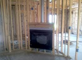 framing the fireplace