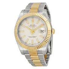 rolex datejust ii watches jomashop rolex datejust ii cream ivory dial stainless steel and 18k yellow gold oyster automatic men s watch