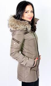 women winter jacket taupe 51