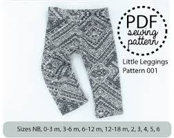 Baby Leggings Pattern Impressive Leggings Pattern Pdf Etsy