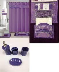 Purple Bathroom Accessories Set 22pc Bath Accessories Ceramic Set Beverly Purple Bathroom Rugs