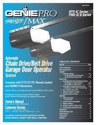 genie silentmax 1000 garage door opener installation manual wageuzi within proportions 1275 x 1651