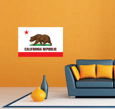 california flag republic usa wall room
