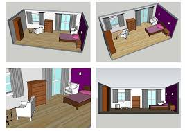 BA Hons Interior Design degree Student Case study Jan Maguire: Concept  Views of Bedroom.