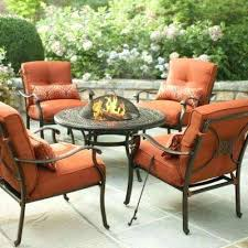 cold spring 5 piece patio fire pit set with red cushions martha stewart outdoor dining table