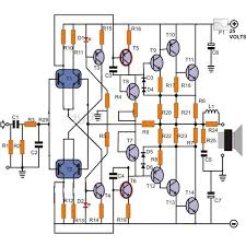 100w transistor power amplifier schematic learn how to build it transistor power amplifier circuit diagram image