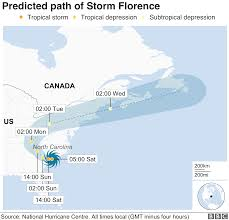Hurricane Tracking Chart Florence Hurricane Florence Where Is Being Hit Bbc News