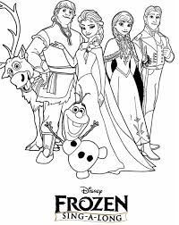Kleurplaat Frozen Coloring Pages Frozen Coloring Pages Frozen