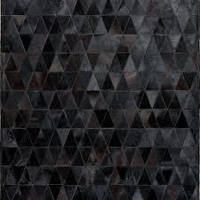 onix cowhide patchwork rug