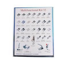 Domestic Sewing Machine Presser Foot Feet Kit Set With Box