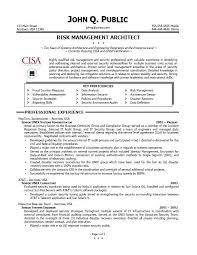 Risk Management Job Description Resumes   Template