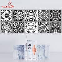 3d wallsticker 10pcs marble mosaic brick self adhesive waterproof wall paper for kitchen bathroom diy home stickers