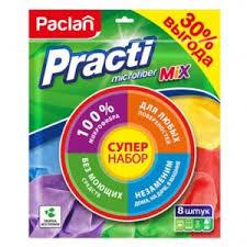 <b>Салфетки</b> для уборки <b>PACLAN Practi</b> Microfiber <b>Mix</b> ...