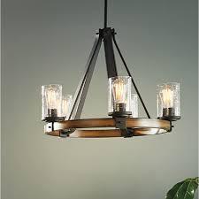 wooden chandelier lighting. Brilliant Chandelier Shop Kichler Lighting Barrington Light Distressed Black And Wood Model 50 In Wooden Chandelier L
