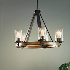 kichler lighting barrington light distressed black and wood model 50