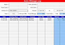 Excel Mileage Log Fuel Usage Www Picsbud Com